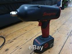 Snap on impact gun Set 1/2 + 3/8 with charger and 2 batteries + x2 wrench covers