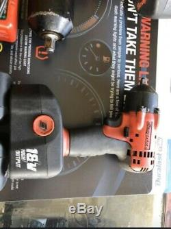 Snap on tools 1/2 impact wrench Gun KIT 4batteries, charger, 3/8 Gun Included