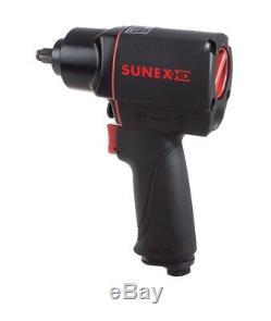 Sunex HD 3/8 Quiet Air Impact Wrench Gun Pneumatic Tools Drive 300 Ft Lbs SX4335
