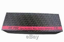 US PRO Tools 1 Inch Drive Air Impact Wrench Gun 8 Anvil 2800Ft-lb 3800NM 8532