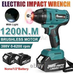 1200 N. M Clé D'impact Sans Fil 1/2'' Drive Électric Ratchet Nut Gun 2
