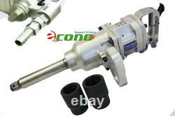 1 Dr. Air Impact Wrench Gun 1900ft-lbs Long Shank Truck Wheels Nut Removal Gun