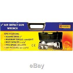 1 Heavy Duty Air Impact Wrench Pouces Disque Haute Puissance Impact Des Armes À Feu