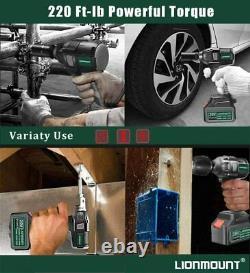 20v 2in1 1/2 Coffret D'outils D'alimentation De L'appareil De Commande De La Clé D'impact De Chuck