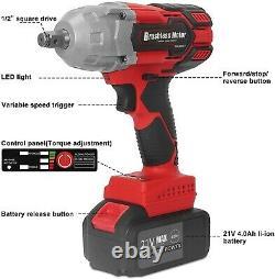 21v 442 Ft-lbs (600nm) Kit D'outils De Perceuse Électrique Sans Fil À Percussion