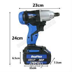 21v Cordless Impact Wrench 1/2 Drive Ratchet Rattle Nut Gun Li-ion Battery+case