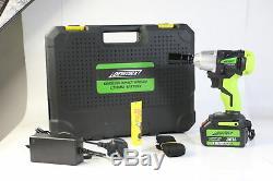 21v Sans Fil Li-ion 1/2 Clé À Chocs D'entraînement À Cliquet Rattle Écrou Gun Socket + Case