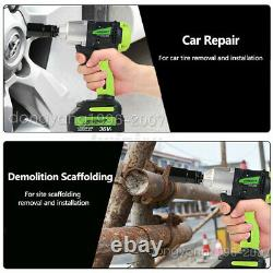 2in1 Clé D'impact 1/2 & 1/4 Electric Cordless Driver Car Repair Wheel Nut Gun