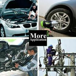 2x Batterie Cordless Impact Wrench 6.0a Li-ion Ratchet Rattle Nut Gun 1/2 Conducteur