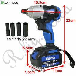 2x Batterie Cordless Impact Wrench 6.0a Li-ion Ratchet Rattle Nut Gun 1/2 Drive