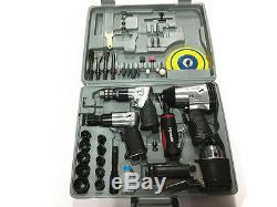 43pc Air Impact Tool Set Kit Clé Clé À Cliquet Rattle Gun Driver - Nouveau Dans La Boîte