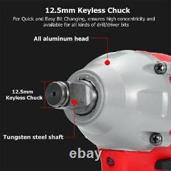 520nm Heavy Duty Impact Wrench Electric 1/2 Gun Driver Lithium-ion Écrou Sans Fil