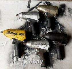 5x Snap Sur 1/2 Air Impact Clé Impact Gun Im6100 Lot Utilisé Tous Les Spin