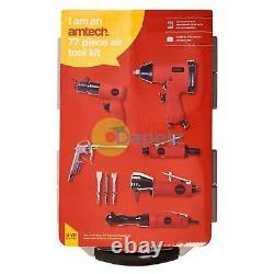 77pc Air Tool Kit Impact Gun Grinder Clé Marteau Chisel Compresseur De Stockage
