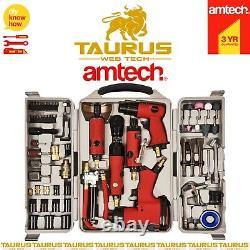 77x Amtech Air Tool Kit Hammer Impact Gun Grinder Clé Bricolage Power Socket Bit Uk