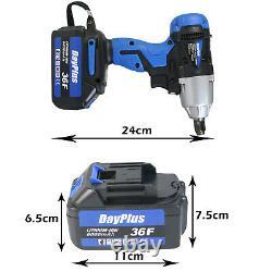 Battery+cordless Impact Wrench 6.0a Li-ion Ratchet Rattle Nut Gun 1/2 Driver