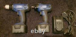 Blue Point 14.4v Impact Gun/wrench +drill Inc Chargeur (batteries Doivent Être Référées)