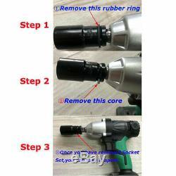 Clé À Chocs 1/2 Ratchet Rattle Nut Gun 2 X Batteries Li-ion Led Worklight 21v