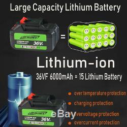 Clé À Chocs Sans Fil 2x Li-ion Batterie D'entraînement D'impact À Cliquet Rattle Écrou Gun 21v