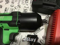 Clé À Percussion Green Clé À Choc 1/2 Pistolet Kit 2 Piles, Chargeur, Emboîtable Pour Sac