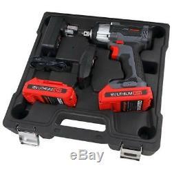 Clé À Pistolet À Impact Sans Fil 18v Li-ion 350nm 2 Batteries (véritable Neilsen Ct3970)