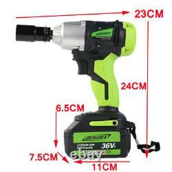 Clé D'impact Sans Fil 6.0a 2 X Li-ion 1/2 Impact Drive Car Wheel Remove Gun