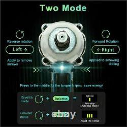 Clé D'impact Sans Fil 6.0a Li-ion 1/2drive Ratchet Rattle Nut Gun 21v/ Batterie