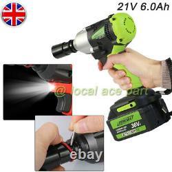 Cordless Impact Wrench 2x Battery 6.0ah 1/2 Impact Drive Ratchet Rattle Nut Gun