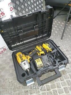 Dewalt 18v Impact Wrench Gun High Torque 1/2 Inch X2 Batteries 5.0ah Complete