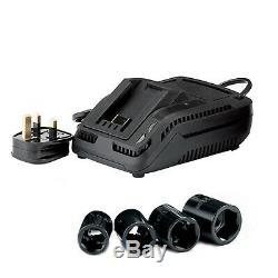 Draper 82983 Pistolet À Percussion Sans Fil À Entraînement 20v 1/2 Avec 2 Batteries Li-ion