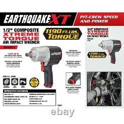 Extreme Torque 1/2 Dans Air Impact Wrench Driver Gun Pneumatic Socket 1000 Ft Lbs