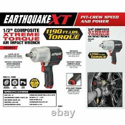 Extreme Torque 1/2 Pouces Air Impact Wrench Driver Gun Pneumatic 1190 Ft Lbs