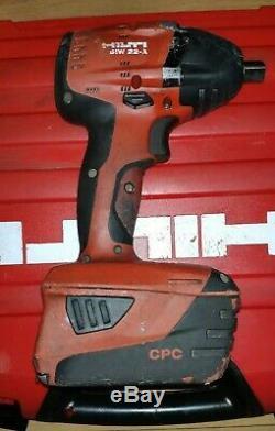 Hilti Siw 22a Clé À Chocs Sans Fil Nut Gun 22v 1/2 Drive 3,3 Ah Batterie