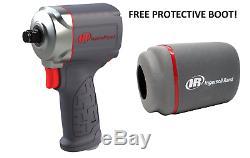 Ingersoll Rand 15qmax 3/8 Quiet Drive Stubby Impact Gun Clé Avec Free Boot