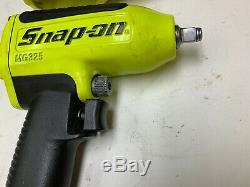 Jaune Snap On Mg235 3/8 À Chocs Air 90 Psi Clé Pilote Outil Outils & Cover