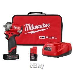 Kit De Clé Pour Pistolet À Chocs À Entraînement Sans Fil 3/8 M12 Fuel Milwaukee 2554-22