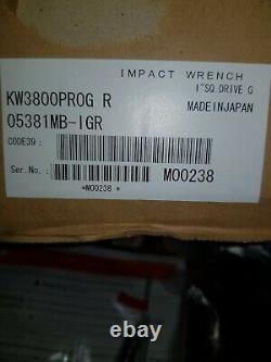 Kuken 1 Drive Impact Wrench Kw-3800pro Pneumatic Air Gun Commercial Hgv Inch