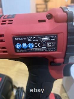 Mac Outils 1/2 Percussion À Batterie Clé Gun 10.8v Nouveau (bwp050c) Chargeur Et 1 Bat
