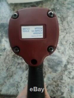 Matco Mt2234 3/4 Clé À Chocs Air Pneumatique Gun 3/4 Pouces Trois Quarts