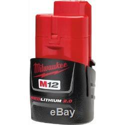 Milwaukee 2454-20 M12 Fuel 3/8 Clé À Chocs Gun Avec Clip De Ceinture Et 2.0 Batterie
