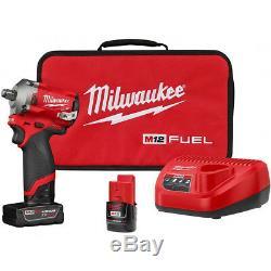 Milwaukee 2555-22 M12 Fuel - Kit De Clé À Canon À Percussion Sans Entraînement À 1/2 Entraînement