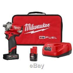 Milwaukee 2555-22 M12 Fuel Stubby Sans Fil 1/2 Gun Kit D'entraînement D'impact Clé