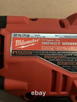Milwaukee 2767-20 M18 Fuel 1/2 Drive Clé D'impact Avec Nouvelle Batterie 3.0