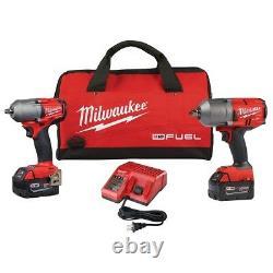 Milwaukee 2988-22 M18 Fuel Kit D'auto 1/2 Et 3/8 Kit De Clé D'impact