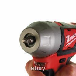 Milwaukee M12biw14 12v Sub Compact Cordless Impact Wrench Gun Bare Unit 1/4 Nouveau