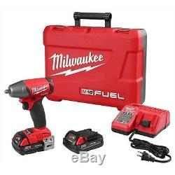 Milwaukee M18 Fuel Clé À Pistolet À Pistolet Compact De 18 Volts Et 3/8 Entraînement 2754-22ct