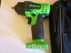 New Snap On 3/8 Vert 18 Volts Pistolet À Clé À Chocs Sans Fil, Chargeur Et 2 Batteries