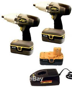 Nouvelles Clés À Chocs À Percussion Sans Fil Longacre - 2 Pistolets, 3 Batteries Et Chargeur, 68611