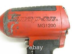 Outils À Snap-on 3/4 Drive Air Impact Wrench Gun, Mg1200, As-is, Pour Pièces Seulement