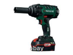 Parkside 20v Cordless Impact Wrench, 1/2 Impact Drive Ratchet Rattle Nut Gun